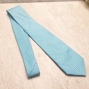 Hermès Classic Monogram H Tie Teal & light Blue